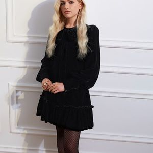 H&M x Vampires wife Mini Velvet Black Dress